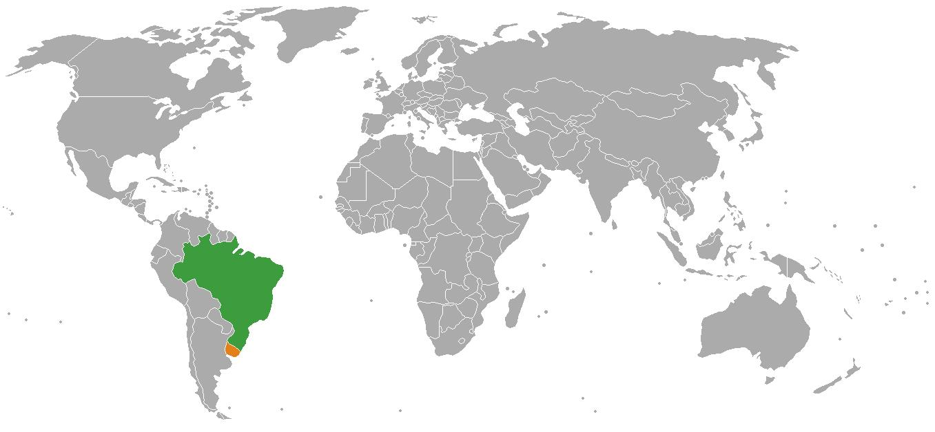 Uruguay On World Map Uruguay Location On World Map South America