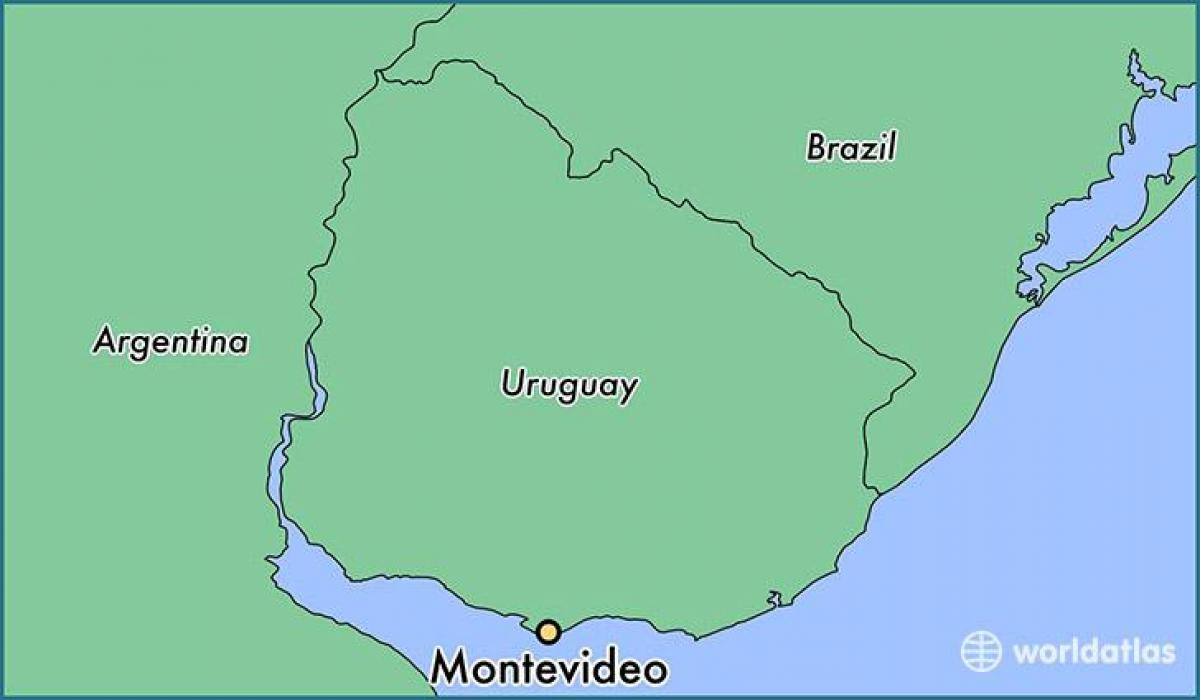 Image of: Montevideo Uruguay Map Map Of Montevideo Uruguay South America Americas