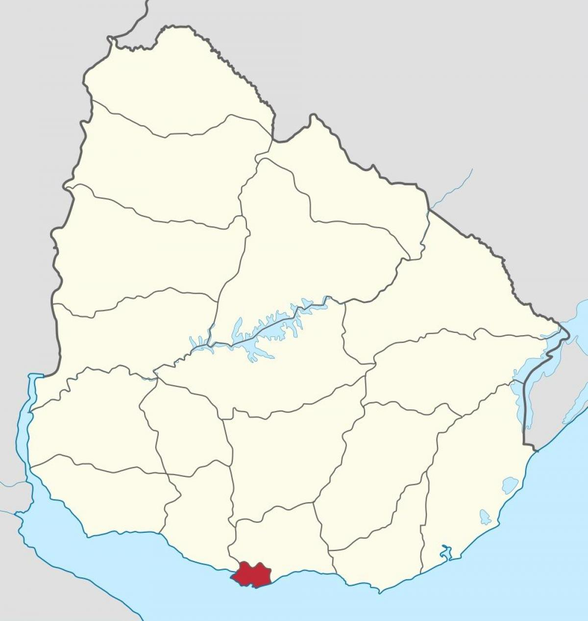 Map of Uruguay outline