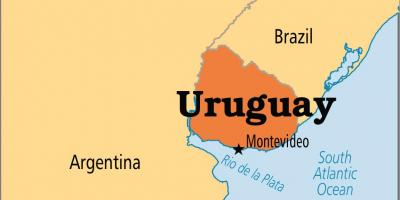 Uruguay capital map
