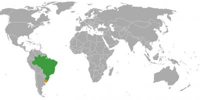 Uruguay location on world map